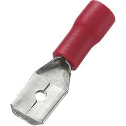 Ploščati vtič, širina vtiča: 6.4 mm debelina vtiča: 0.8 mm 180 ° delno izoliran, rdeče barve TRU COMPONENTS 745410 100 kosov