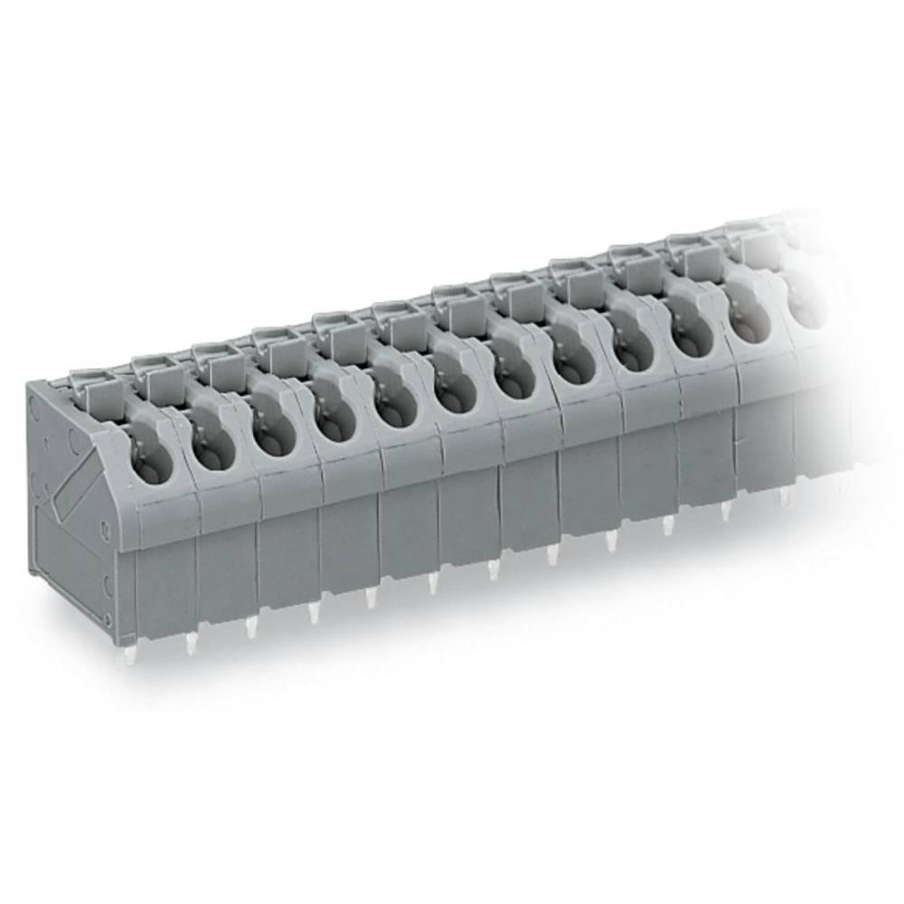 Fjederkraftsklemmeblok WAGO 1.00 mm² Poltal 4 Orange 220 stk