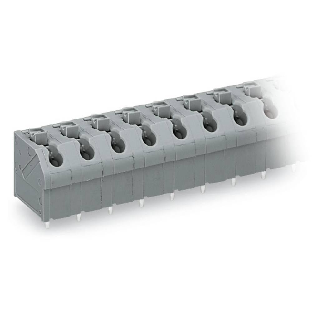 Fjederkraftsklemmeblok WAGO 1.00 mm² Poltal 5 Orange 120 stk