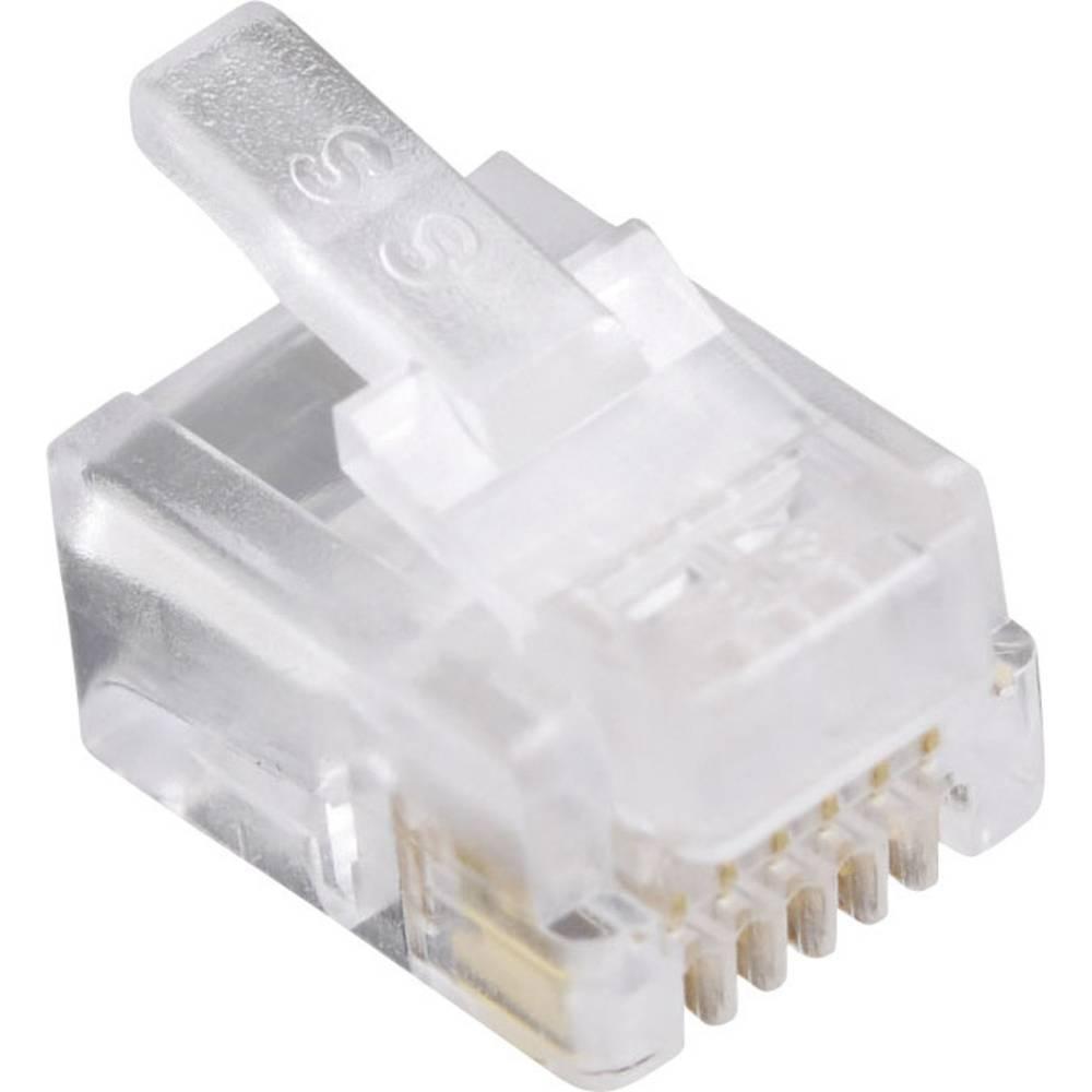 Modularni vtič, za okrogli kabelski vtič, raven, polov:6P6C 940SP3066R prozoren BEL Stewart Connectors 940SP3066R 1 kos