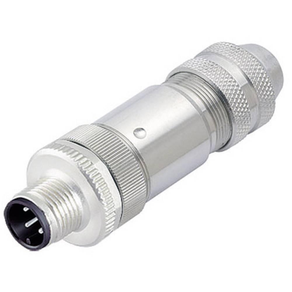 Aktuatorsko-senzorski vtični konektor M12, raven z navojem 713-99-1429-814-04, Binder