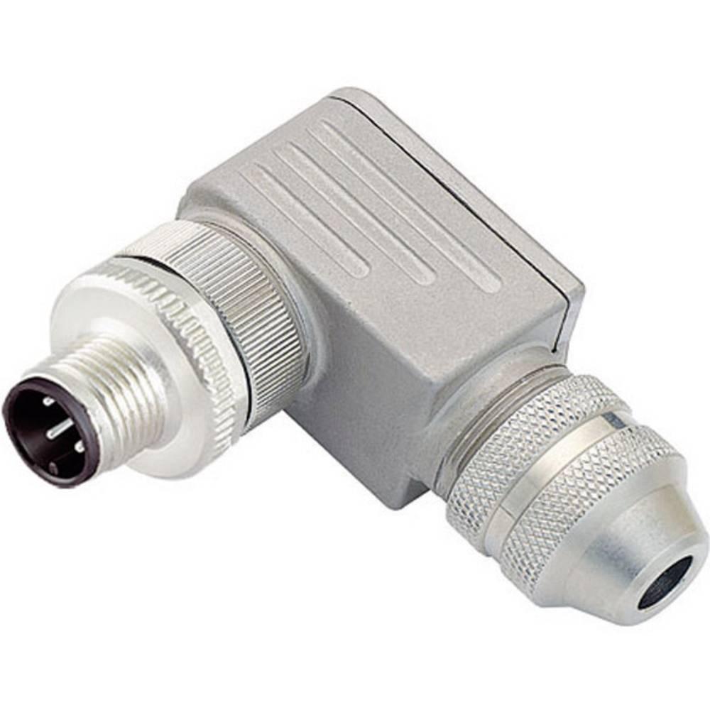 Aktuatorsko-senzorski vtični konektor M12, kotni z navojem 713-99-1429-824-04, Binder
