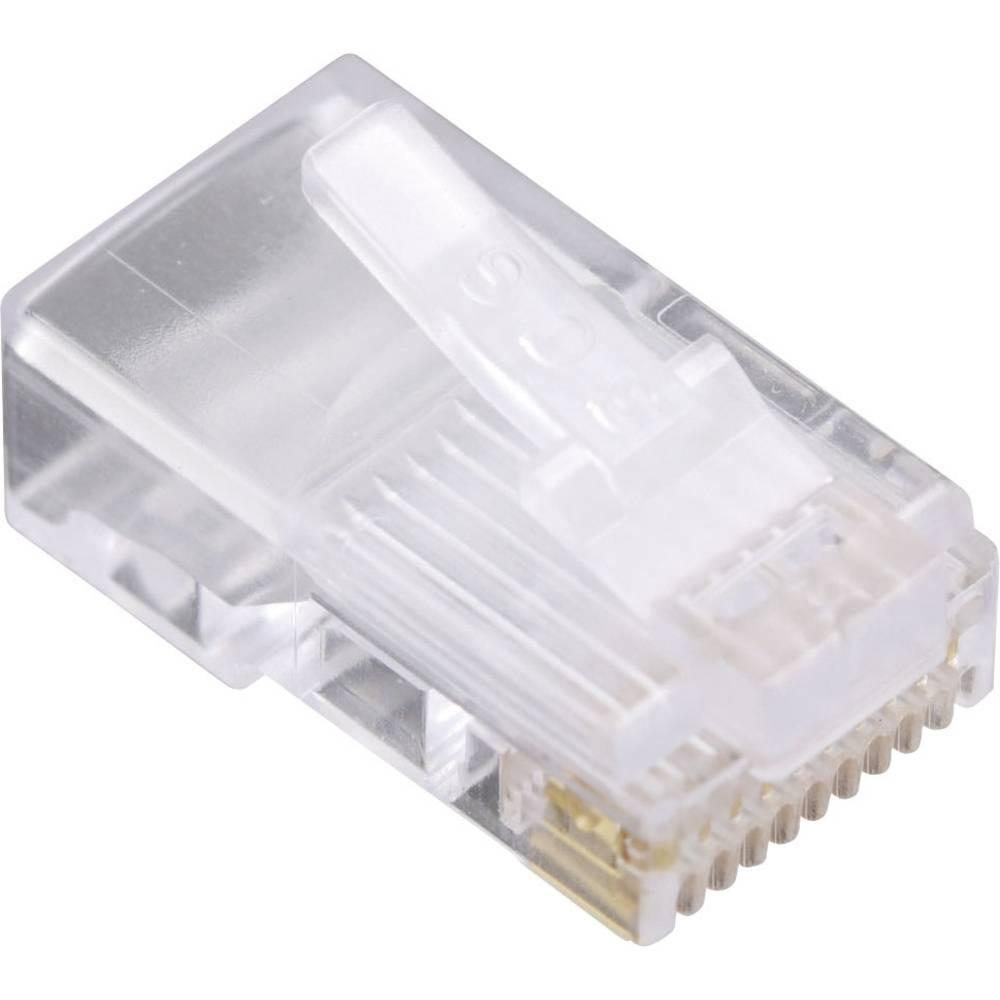 Modularni vtič, za okrogli kabelski vtič, raven, polov:10P10C 1400-1000-06 prozoren BEL Stewart Connectors 1400-1000-06 1 kos