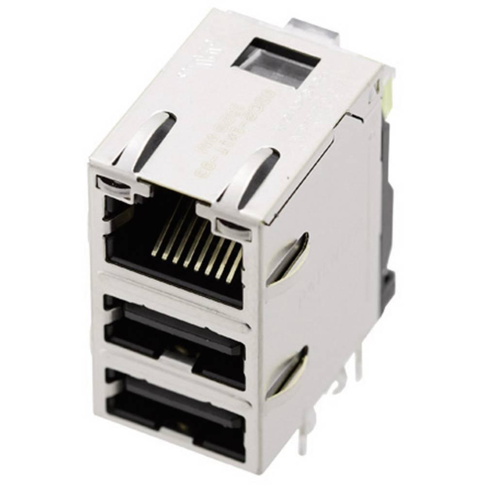 MagJack® kombinirana vgradna vtičnica, vgradna 1443-4000-06 BEL Stewart Connectors vsebuje: 1 kos