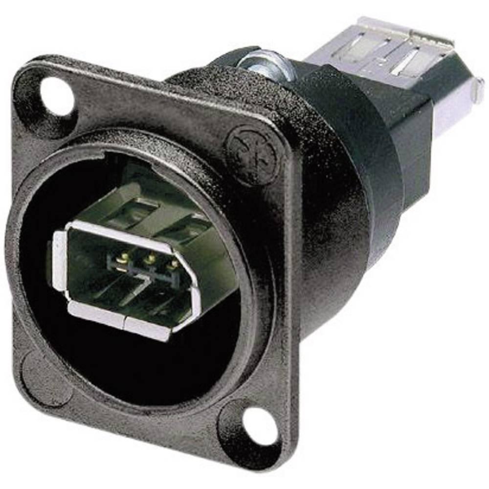 FIREWIRE 6 Z IEEE1394 6 polna, z vtičem črna Neutrik NA1394-6-B-W