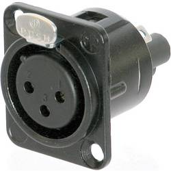 XLR-konektor Ženski konektor s prirobnico, ravni kontakti Število pinov: 3 Črna Neutrik NC3FD-S-1-B 1 KOS