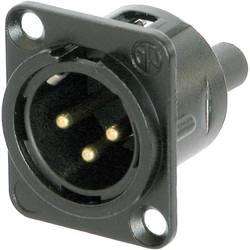 XLR-konektor Moški konektor s prirobnico, ravni kontakti Število pinov: 3 Črna Neutrik NC3MD-S-B-1 1 KOS