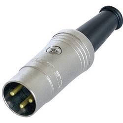 DIN- okrogli konektor-vtič, raven št.polov: 3 črn Rean NYS321G 1 kos