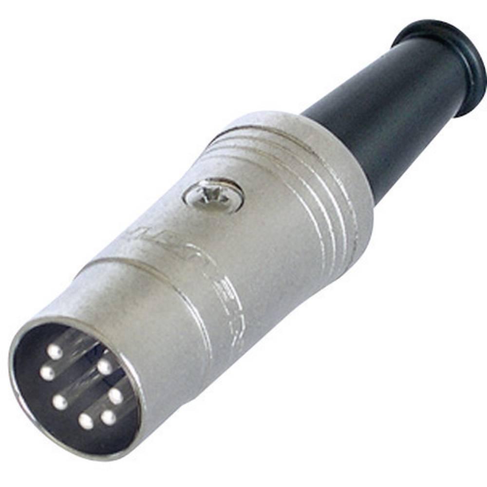 DIN- okrogli konektor-vtič, raven št.polov: 7 črn Rean NYS323 1 kos