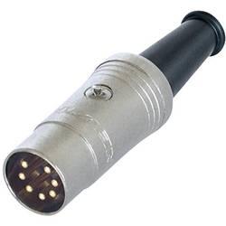 DIN- okrogli konektor-vtič, raven št.polov: 7 črn Rean NYS323G 1 kos