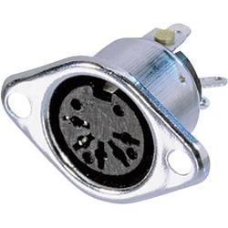 Okrogli konektor DIN Ženski konektor s prirobnico, ravni kontakti Število pinov: 3 Srebrna Neutrik NYS324 1 KOS