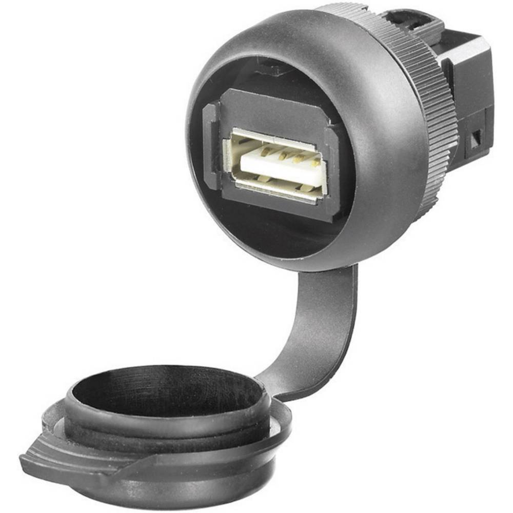 Weidmüller IE-FCM-USB-A USB 2.0 Sort 1 stk