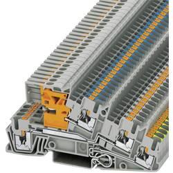 Push-In trokatna instalacijska stezaljka PTI PTI 2,5-PE/L/NT Phoenix Contact sive boje, sadržaj: 1 kom.