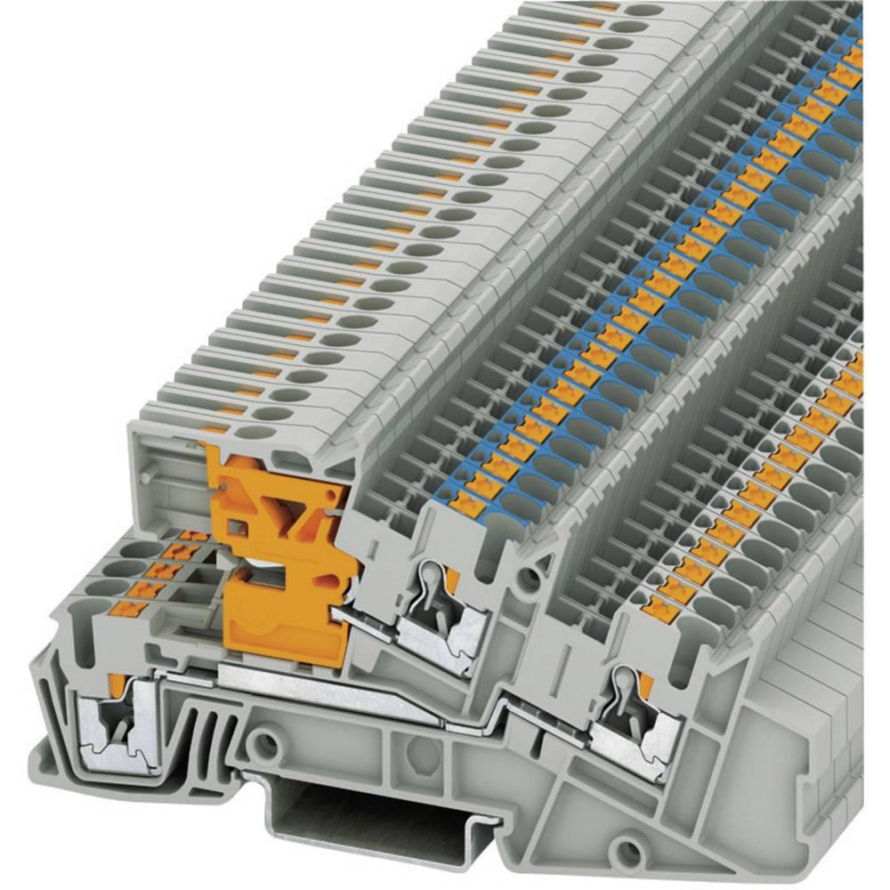 Push-i tre-niveau installation terminaler PTI Phoenix Contact PTI 2,5-L/NT Grå 1 stk