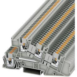 Push-In trokatna instalacijska stezaljka PTI PTI 2,5-L/L Phoenix Contact sive boje, sadržaj: 1 kom.