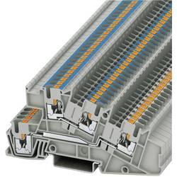 Push-In trokatna instalacijska stezaljka PTI PTI 2,5-L/N Phoenix Contact sive boje, sadržaj: 1 kom.