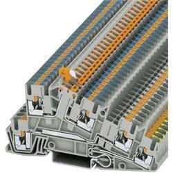 Push-In trokatna instalacijska stezaljka PTI PTI 2,5-PE/L/NTB Phoenix Contact sive boje, sadržaj: 1 kom.