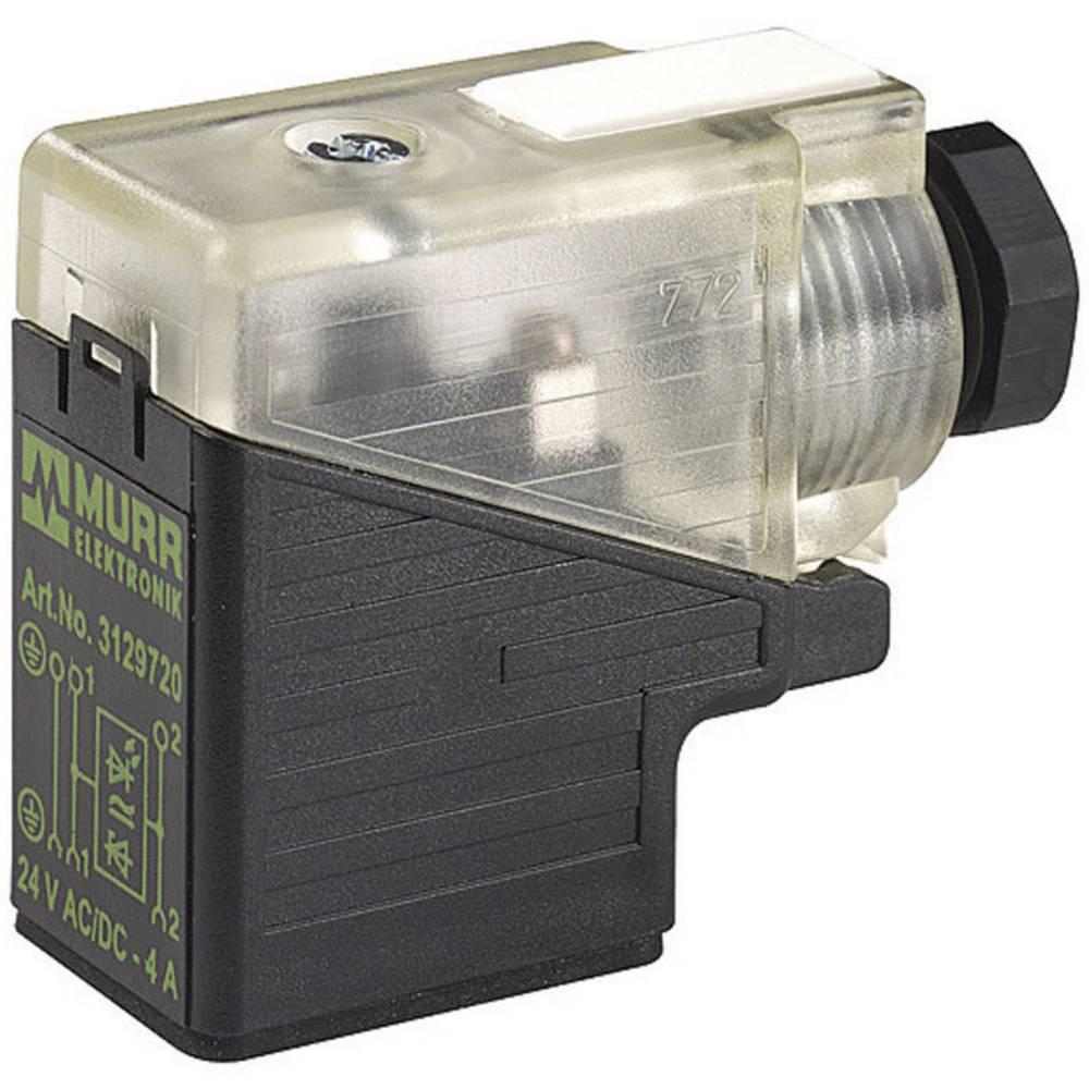 Valve stik SVS Industry Standard Murr Elektronik SVS Sort, Transparent 1 stk