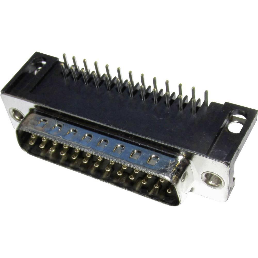 D-SUB s spajkalnim priklopom,90 stopinjski kot, št. polov:9,kotni vtič, MHDD09-M-T-B-S--RB 2103-2100-01 MH Connectors