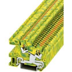 Push-In instalacijska stezaljka sa zaštitnim vodičem PTI PTI 2,5-PE Phoenix Contact zeleno-žute boje, sadržaj: 1 kom.