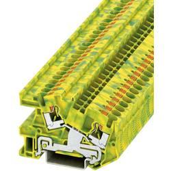 Push-In instalacijska stezaljka sa zaštitnim vodičem PTI PTI 4-PE Phoenix Contact zeleno-žute boje, sadržaj: 1 kom.