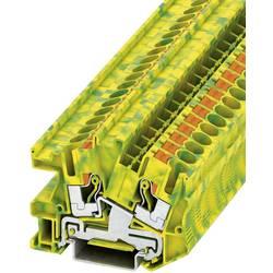 Push-In instalacijska stezaljka sa zaštitnim vodičem PTI PTI 6-PE Phoenix Contact zeleno-žute boje, sadržaj: 1 kom.