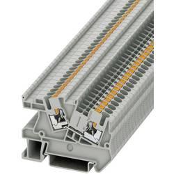 Push-In provodna instalacijska stezaljka PTI PTI 2,5 Phoenix Contact sive boje, sadržaj: 1 kom.