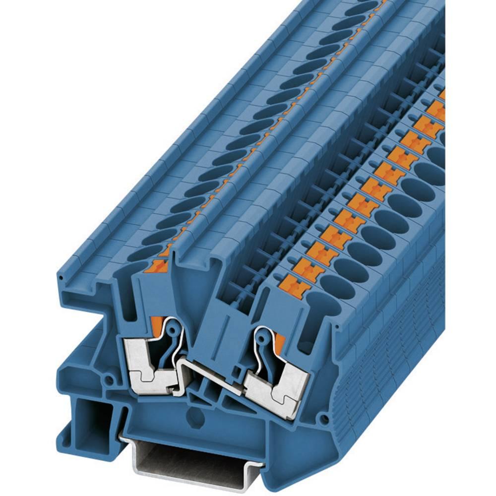 Push-in passagen installation klemme PTI Phoenix Contact PTI 6 BU Blå 1 stk