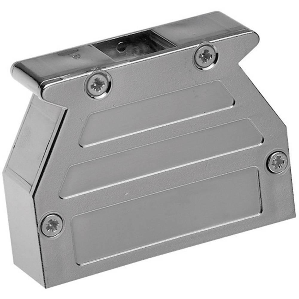 D-SUB pokrov iz umetne mase Provertha 07150M4V001, metaliziran, drsno zapiralo, poli: 15