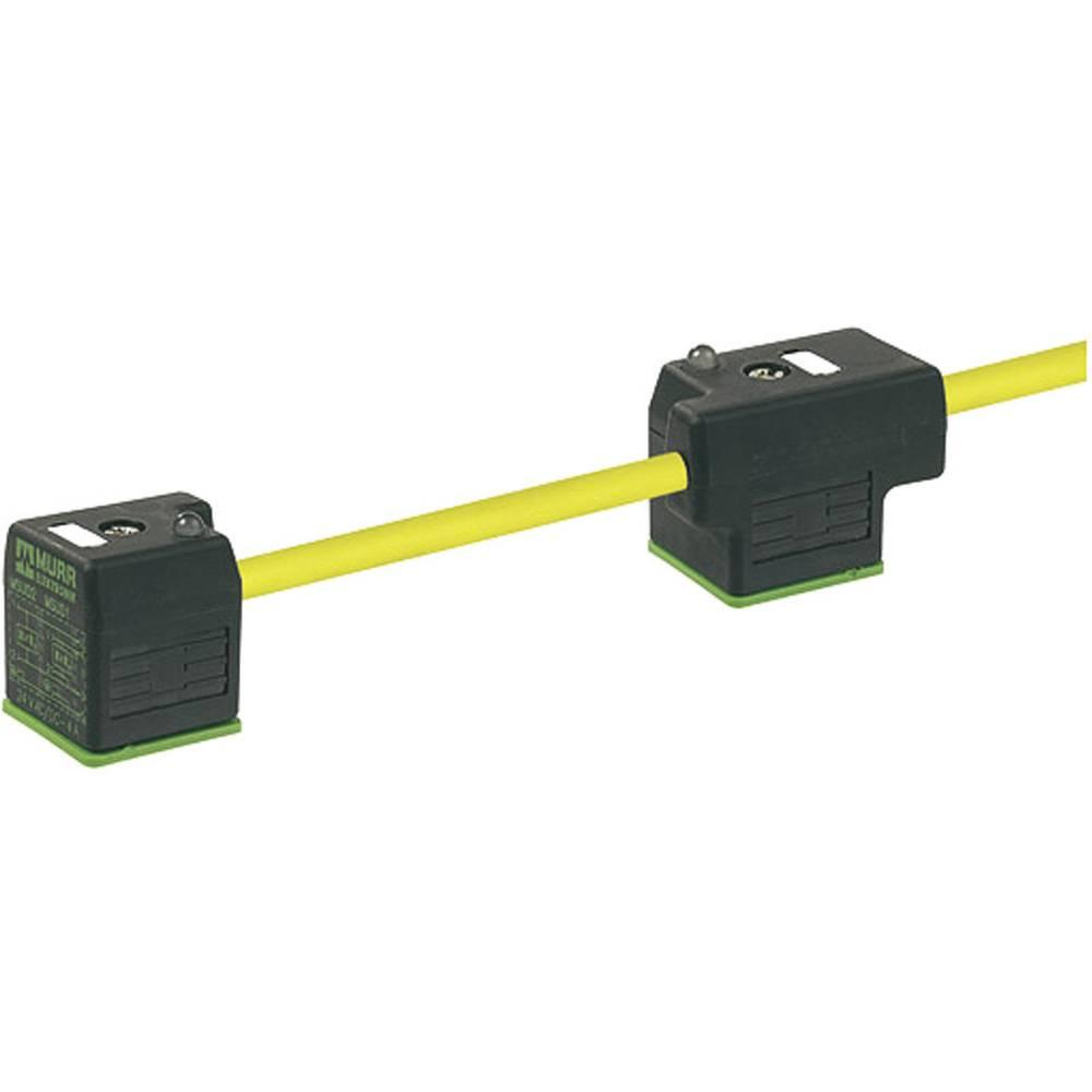 Dobbelt-ventil stik med kabel Murr Elektronik MSUD Sort 1 stk