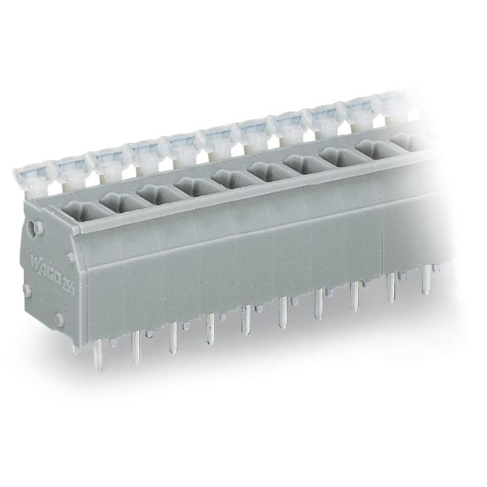 Fjederkraftsklemmeblok WAGO 2.50 mm² Poltal 16 Grå 60 stk