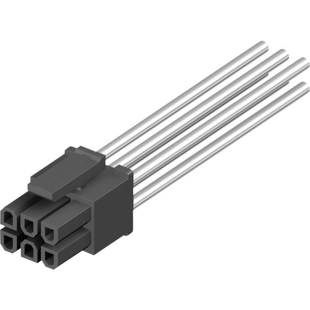 Tilslutningskabinet-kabel BLC Samlet antal poler 6 MPE Garry 433-2-006-X-KS0 Rastermål: 3 mm 1000 stk
