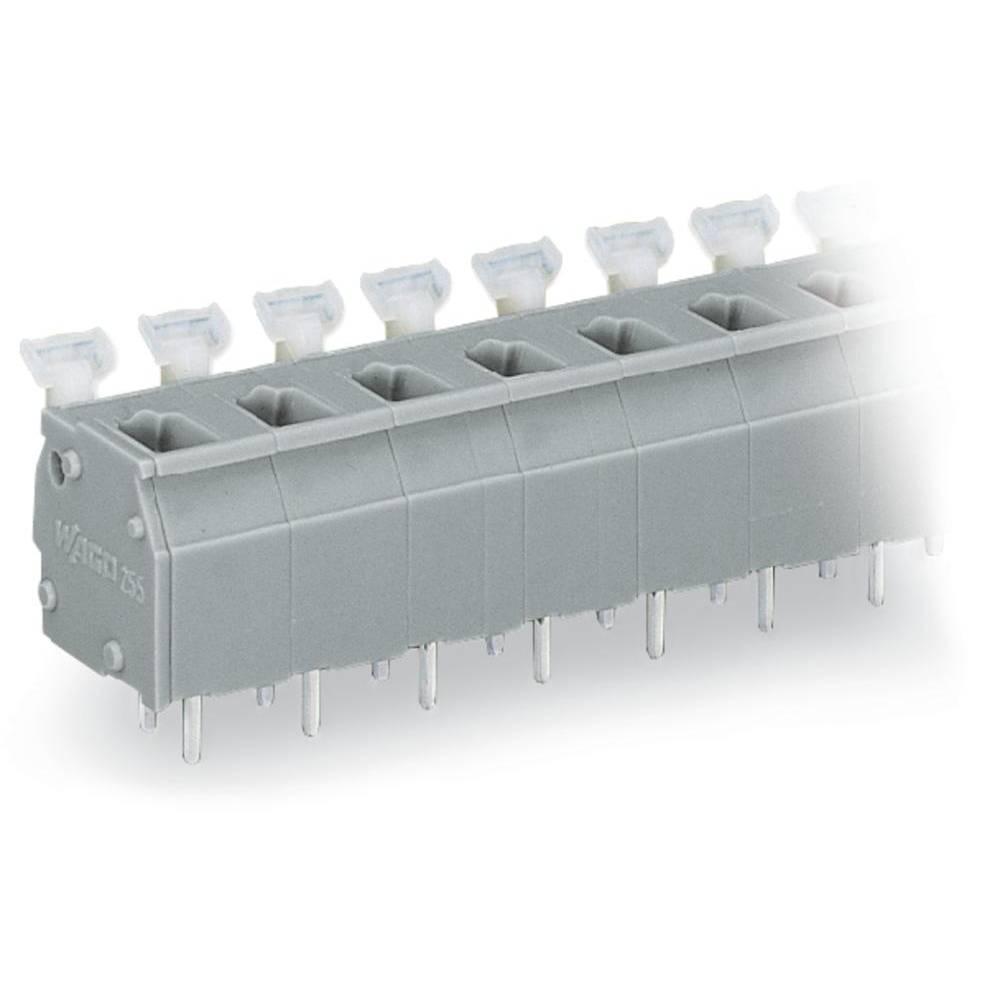 Fjederkraftsklemmeblok WAGO 2.50 mm² Poltal 6 Lysegrå 100 stk