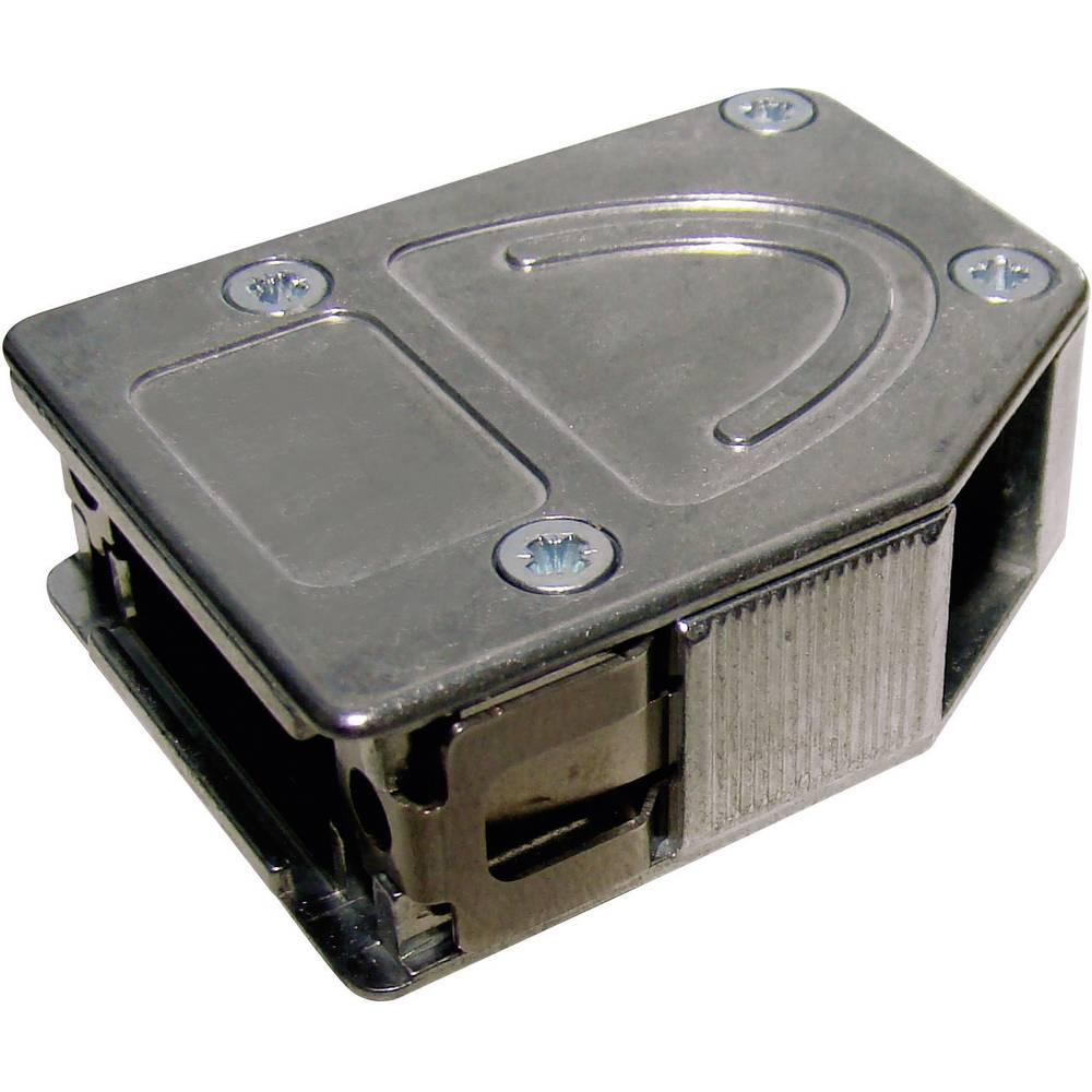 D-SUB popolnoma kovinski pokrov Provertha 10425DC001, QuickLock, poli: 25, vsebina: 1 kos