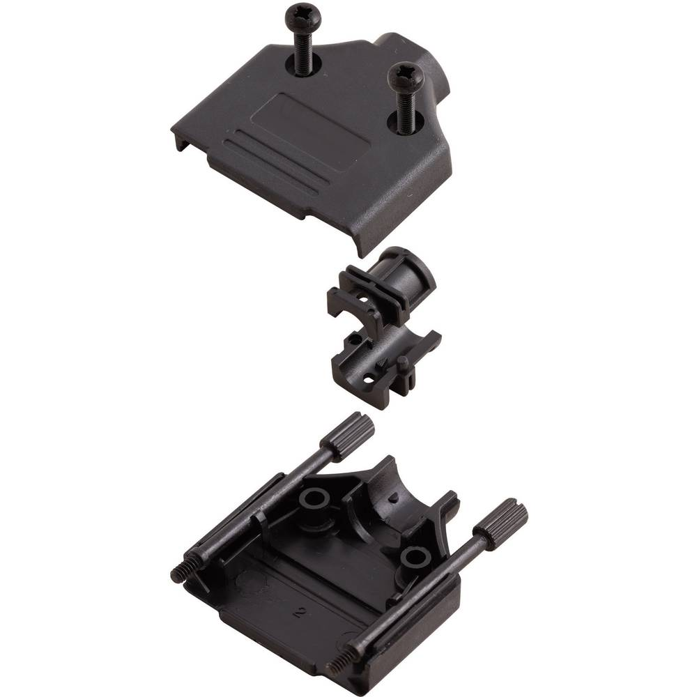 D-SUB Plastični pokrov, št. polov: 9 MHDTPPK-09-BK-K Encitech 6560-0108-01 MH Connectors