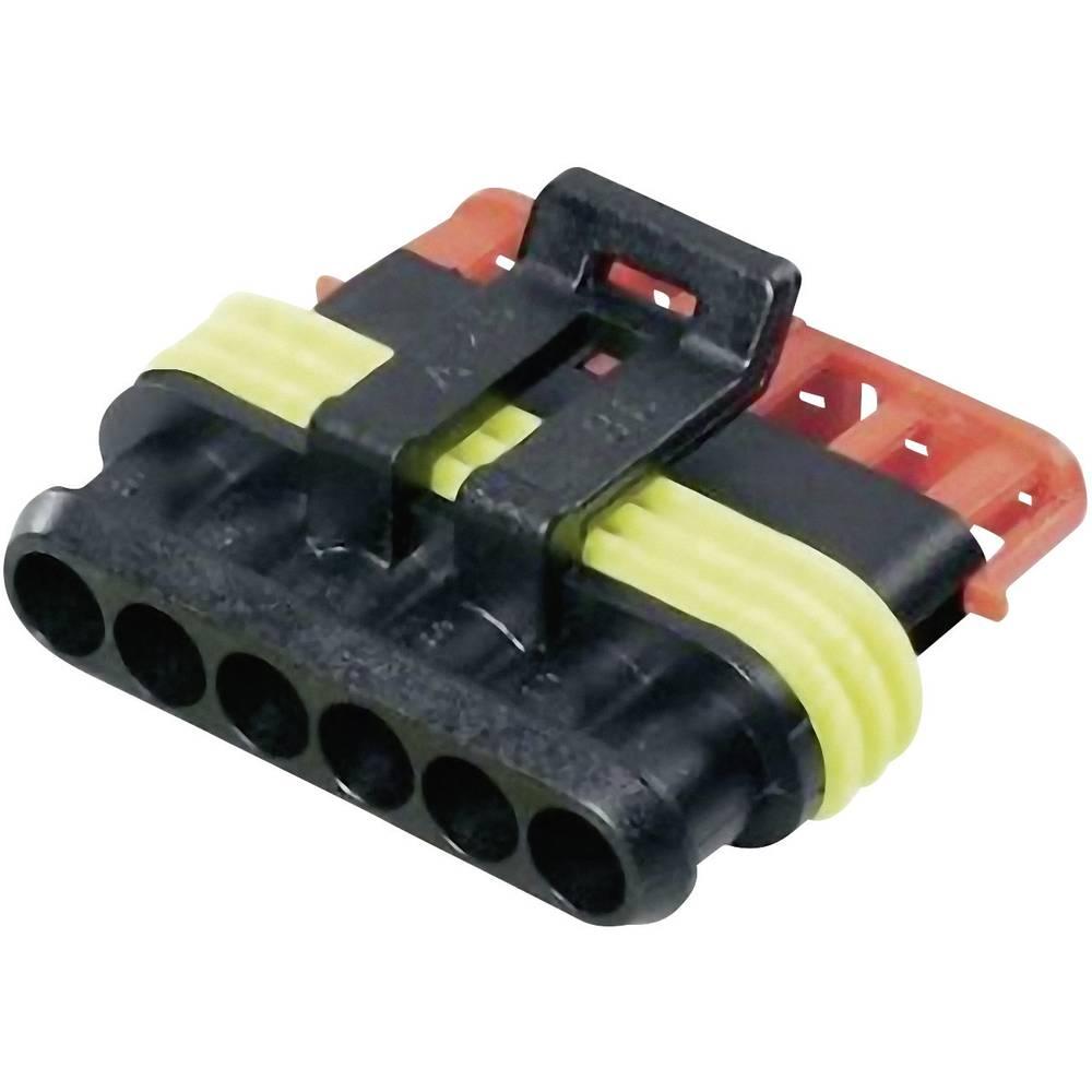 Tilslutningskabinet-kabel AMP-Superseal 1.5mm Series (value.1360566) Samlet antal poler 6 TE Connectivity 282090-1 Rastermål: 6