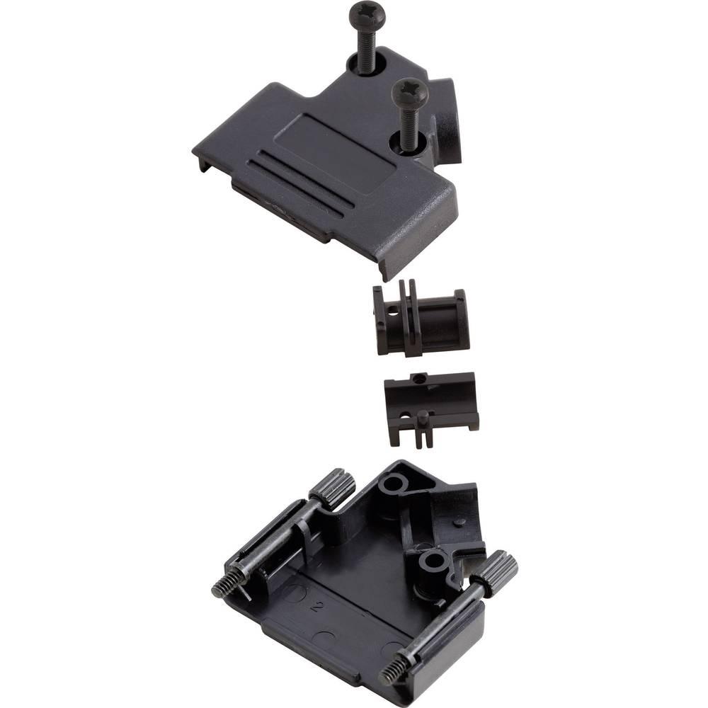 D-SUB pokrov iz umetne mase Encitech MHD45PPK-09-BK-K, poli:9, vsebina: 1 kos 6560-0107-11 MH Connectors