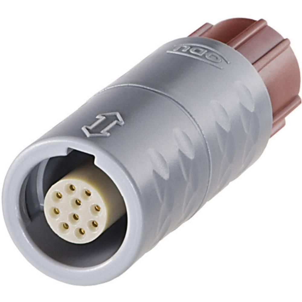MEDI-SNAP okrogli konektor ODUK11M07-P05LJG0-0000, zapiraloPush-Pull, 7,5 A, poli: 5