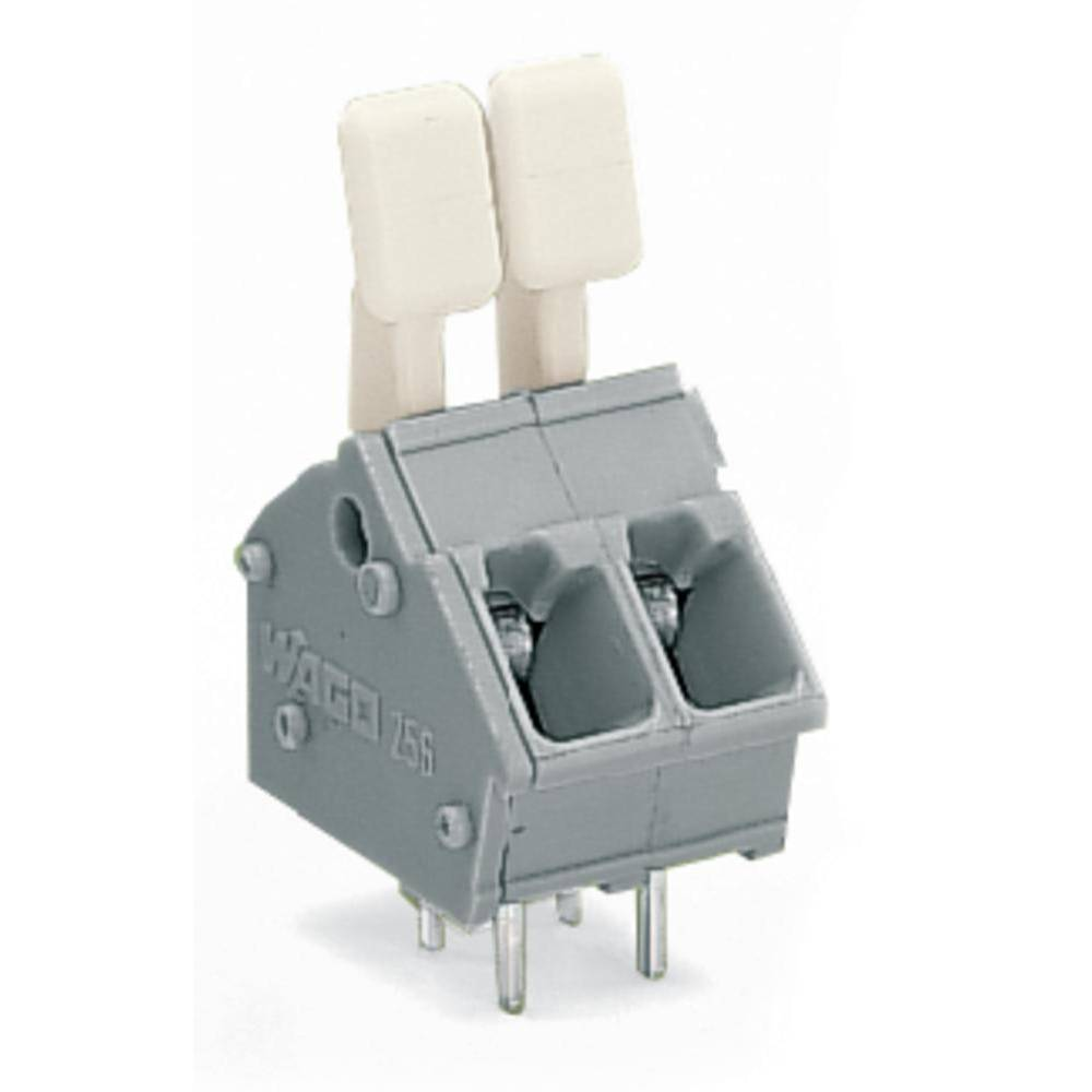 Fjederkraftsklemmeblok WAGO 2.50 mm² Poltal 2 Grå 400 stk
