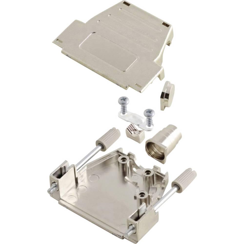 D-SUB ohišje, število polov: 37 iz umetne mase, metalizirano 180 °, 45 ° srebrne barve MH Connectors MHDSSK-M-37-S-K 1 kos