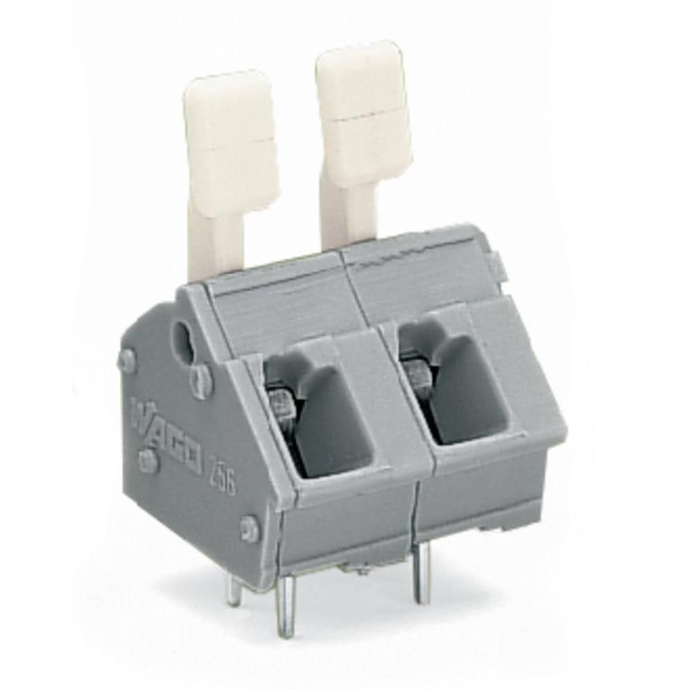 Fjederkraftsklemmeblok WAGO 2.50 mm² Poltal 2 Grå 280 stk