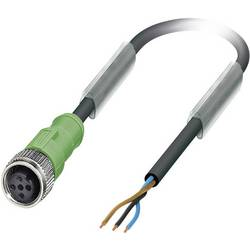 Sensor-, aktuator-stik, M12 Tilslutning, lige 5 m Pol-tal (RJ): 3 Phoenix Contact 1683510 SAC-3P- 5,0-PUR/M12FS 1 stk
