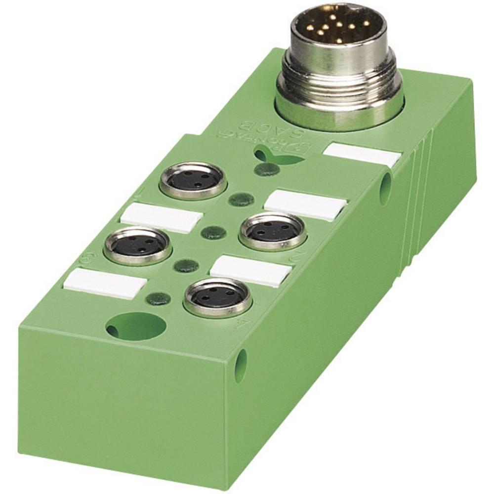 Škatle za senzorje/aktuatorje SACB z vtičnimi mesti M8, kovinski navoj SACB- 4/3-L-M16-M8 P 1516182 Phoenix Contact