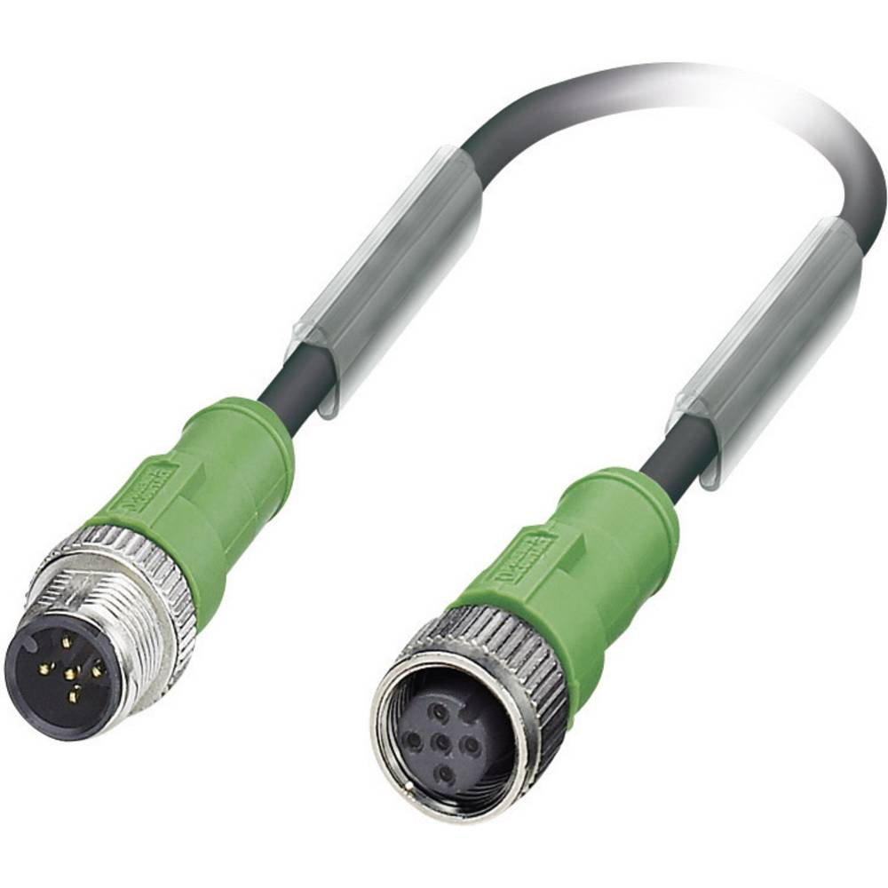 Senzorsko-aktuatorski kabel št.polov: 5 SAC-5P-M12MS/0,6-PUR/M12FS Phoenix Contact vsebina: 1 kos