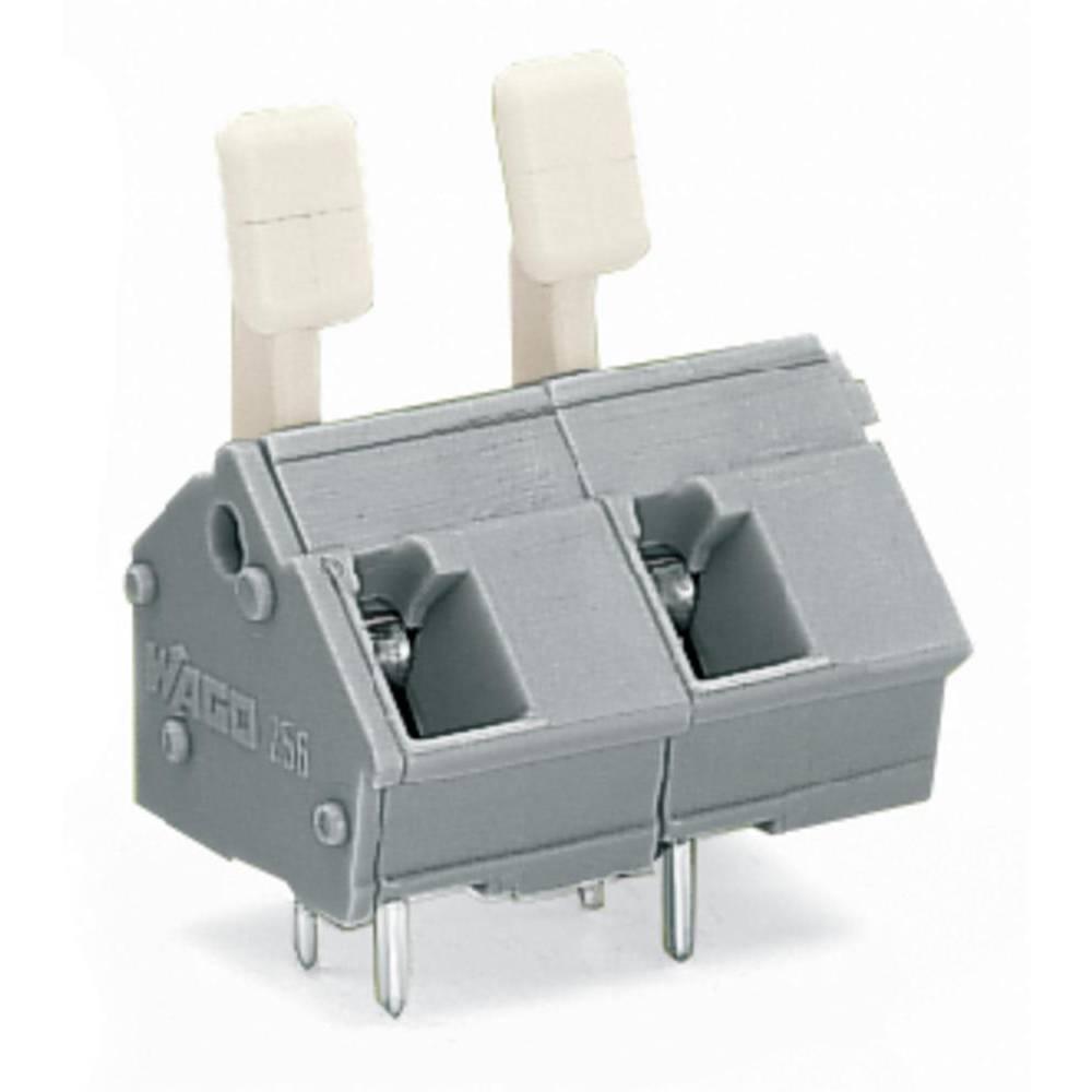 Fjederkraftsklemmeblok WAGO 2.50 mm² Poltal 2 Grå 200 stk