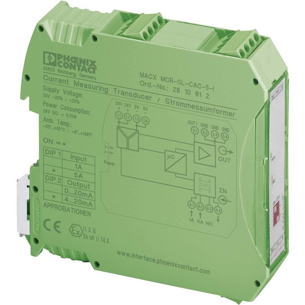 Merilni pretvornik toka za 1 in 5 A Phoenix Contact MACX MCRn 5 A Phoenix Contact MACX MCR 2810612