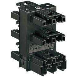 razdjelnik 5-DELNI, 1X utič /5X utičnica crna WAGO 770-608
