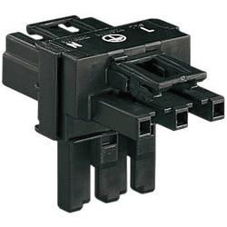 T-razdjelnik 1 x utič / 2 x utičnica, crni WAGO 770-606