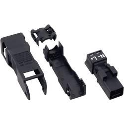 Mrežni konektor, utikač WAGO ravni, broj polova: 2 16 A crna 890-112 1 komad