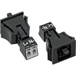Mrežni konektor, utičnica, ravna, br. polova: 2 16 A crna WAGO 890-702 1 kom.